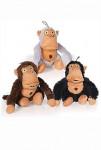 Hračka pes Crazy monkey hnědá 36cm