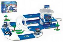 Garáž+dráha Kid Cars 3D Policie plast 3,8m 12m+ Wader