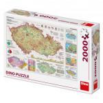 Puzzle 2000 dílků: Mapy České republiky