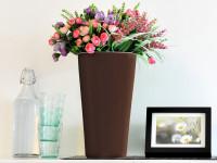 Samozavlažovací květináč GreenSun OXYGENS 24 x 24 cm, výška 41 cm, hnědý