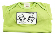 Dětské body Mayaka s dlouhým rukávem Swimming/Diving - zelené Vhodné pro věk 3-6 měsíců - VÝPRODEJ