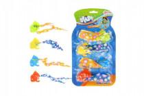 Rybičky na potápění v bazénu 4ks plast 10cm