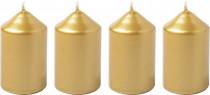 Svíčka adventní 40x60 mm - metalická zlatá - 4 ks