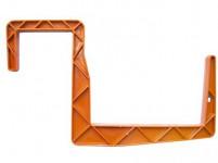 Držák na truhlík balkon - S hranol terakota 15 cm