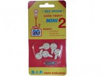 háček tw. mini II plastový, BÍ (5ks) 1104 (7015) - VÝPRODEJ