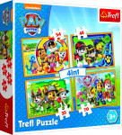 Puzzle 4v1 Paw Patrol/Tlapková Patrola