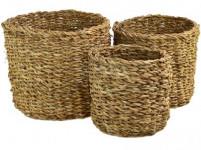 košík kulatý malý pr.17x16cm mořská tráva