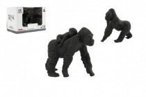 Zvířátka safari ZOO 8cm sada plast gorila 2 druhy