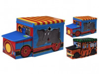 box úložný 55x26x31cm AUTO, karton/sedák MDF - mix variant či barev