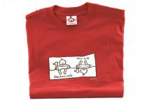 Dětské tričko Mayaka s dlouhým rukávem Swimming/Diving - červené
