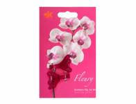 Klips FLEURY plastový fialovo růžový 4cm 2ks - VÝPRODEJ