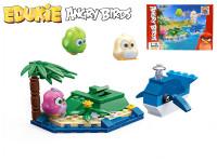 EDUKIE stavebnice Angry Birds ostrov s velrybou 75 ks + 3 figurky