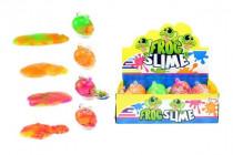 Sliz - hmota žába 130g 8cm v plastové dóze - mix barev