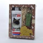 Dárkové balení pro psy a kočky - šampon + pamlsek - s obrázkem kočky - VÝPRODEJ