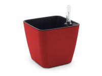 Designový samozavlažovací květináč pro všechny typy rostlin, GreenSun 13x13cm, červený