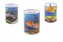 Pokladnička ryby plech 10x8cm - mix variant či barev