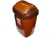 koš odpadkový výklopný STANDARD 27l obdélníkový, hladké víko plastový, HN