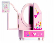Zrcadlo šperkovnice Princess 3-dílné zásuvka dřevo
