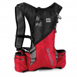 Spokey SPRINTER Cyklistický a běžecký batoh 5l černo/červený, voděodolný