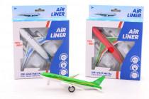 Letadlo kovový model se světlem a zvukem