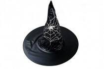 Klobouk čarodějnický dospělý průměr 45cm karneval