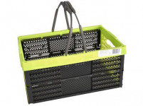 košík nákupní sklád.2 držadla 39x26x19cm plastový - mix barev