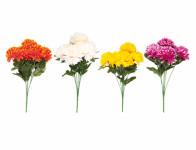 Květina CHRYZANTÉMA X7 7 květů mix 35cm - VÝPRODEJ