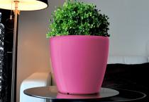 Samozavlažovací květináč GreenSun AQUAS průměr 22 cm, výška 21 cm, růžový