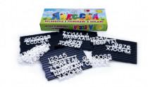 Abeceda Skládačka s písmenky a čísly +podložky plast