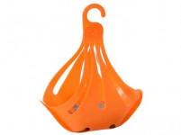 košík na kolíčky CIGNO ovál 23x13x27cm plastový - mix barev