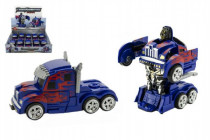 Transformer auto tahač/robot plast 13cm