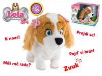 Lola plyšová 17 cm na baterie reagující na české povely - VÝPRODEJ