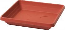 Plastia miska čtyřhranná Lotos - terakota 30x30
