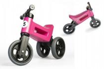 Odrážedlo růžové FUNNY WHEELS 2v1 výška sedadla nastavitelná 28/31cm nosnost 50kg 18m+