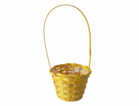 Košík s uchem žlutý 11cm