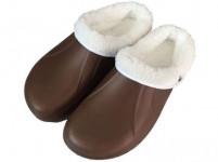 pantofle gumové zimní pánské vel. 42 (pár) - mix barev