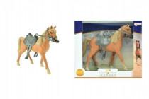 Kůň se sedlem plast 20cm