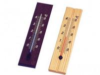 teploměr pokojový D20 20cm dřev. světlý