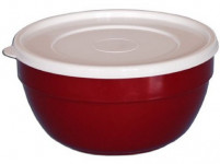 miska polévková 13cm s víčkem plastová - mix barev