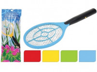 plácačka na mouchy elektrická 46x17cm, 3V, plastová / kov - mix barev