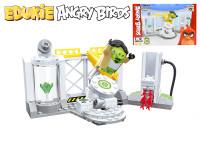 EDUKIE stavebnice Angry Birds výzkumné středisko 130 ks + 1 figurka