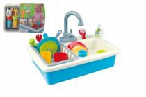 Dřez na mytí nádobí + kohoutek na vodu na baterie 20ks plast