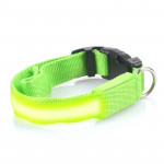 Svítící LED obojek s USB nabíjením, zelený, Domestico
