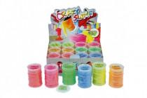Sliz - hmota 80g neonová 8x5,5cm - mix barev - VÝPRODEJ