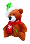 Vánoční Hračka pes Medvěd se šálou plyš 20cm TR 1ks