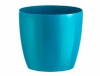 Obal na květník MADEIRA LUXY plast modro zelený d22x20cm