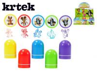 Razítka Krtek plast 4cm - mix barev - VÝPRODEJ