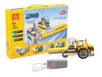 Elektronická stavebnice 4v1 Wange - domino linka, lunární vozítko, větrný mlýn, váhy