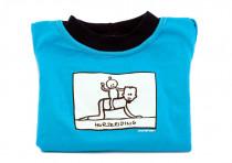 Dětské tričko Mayaka s dlouhým rukávem Horseriding - tyrkysové Vhodné pro věk 6-12 měsíců - VÝPRODEJ