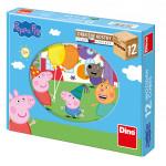 Dino puzzle Peppa Pig 12 kostek - VÝPRODEJ